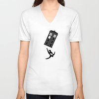 mad men V-neck T-shirts featuring Doctor Who - Mad Men by bosphorus