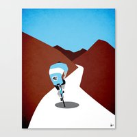 cycling Canvas Prints featuring Cycling by Osvaldo Casanova