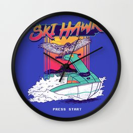 Ski Hawk Wall Clock