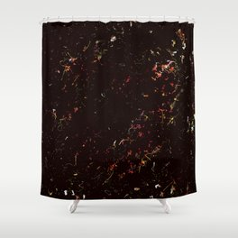 Spring black pink Shower Curtain