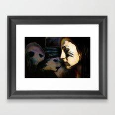 Mean Spirited Gossip Framed Art Print