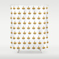 pie Shower Curtains featuring Pie by nicolaporter