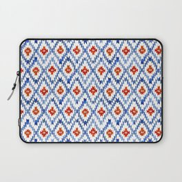 blue rhombus balinese ikat mini Laptop Sleeve