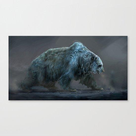 Frozen Bear Canvas Print