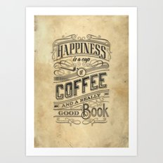 Coffee - Typography v2 Art Print