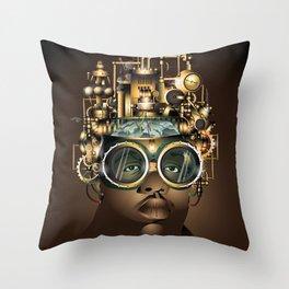 Machine Gun (Steam) Funk Throw Pillow