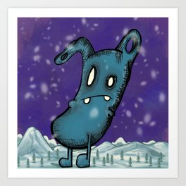 In The Winter I Stand Alone Art Print