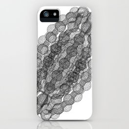 GEOMETRIC NATURE: COULOMB CRYSTAL w/b iPhone Case