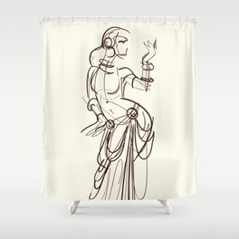 tribal fusion gypsy dancer Shower Curtain