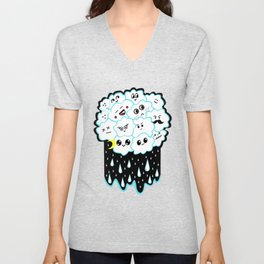 Cloudy and Rainy Nights Unisex V-Neck