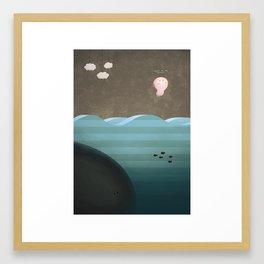 Flight of the Axolotl Framed Art Print