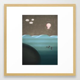Flight of the Axolotl Framed Art Print