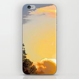 """""""Sunset Clouds #47"""" with poem: No One Is Asking iPhone Skin"""