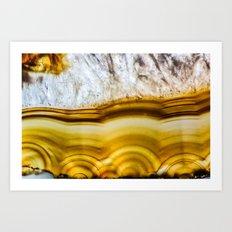 Amber Honey Agate Earth Art Print
