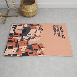 Habitat 67 retro poster Rug