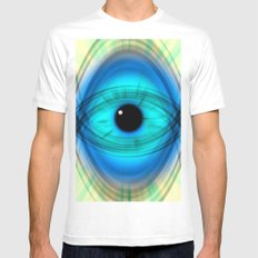 Eye abstract MEDIUM Mens Fitted Tee White