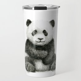 Panda Baby Watercolor Travel Mug