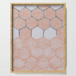 Honey Bee Hexagons – Uneven Edges Serving Tray