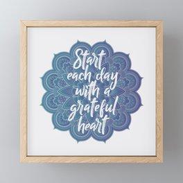 Gratitude Mandala Framed Mini Art Print