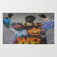 """war Area & Throw Rugs featuring """"WAR"""" by FLAVADAVE!"""