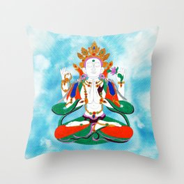 Buddha of Compassion Throw Pillow