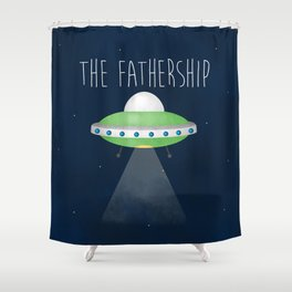 The Fathership Shower Curtain