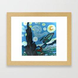 Starry Flight Framed Art Print