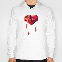 vector Hoodies featuring Heart vector by Tony Vazquez