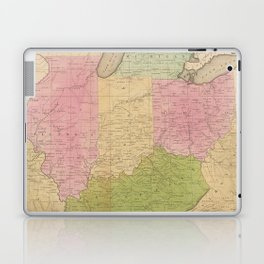 Vintage Map of The Midwestern US (1830) Laptop & iPad Skin