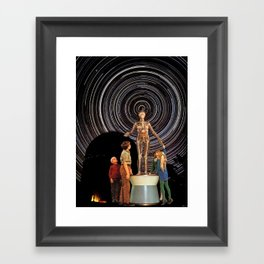 SATAN LIVES IN THE STARS Framed Art Print