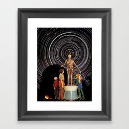 SATAN LIVES IN THE STARS Framed Art Print