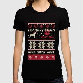 Rhodesian Ridgeback christmas gift t-shirt for dog lovers T-shirt