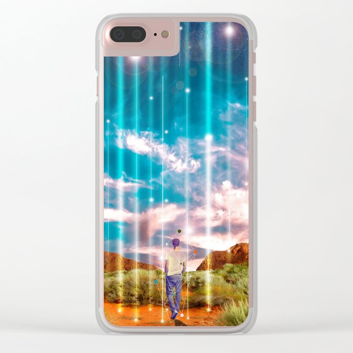 TRAVELLING LIGHTS Clear iPhone Case