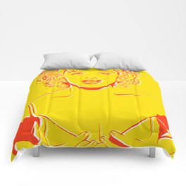 Lady in Yellow Comforters