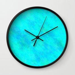 Aqua Color Wall Clock
