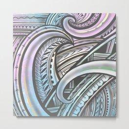 Pastel Polynesian Metal Print