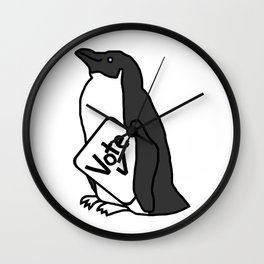 Penguin Says Vote Wall Clock