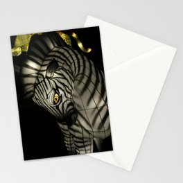 Closeup of Zebra Christmas Decoration in Palm Desert Stationery Cards