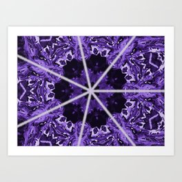 Purple Crazy Art Print
