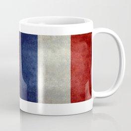 Flag of France, vintage retro style Coffee Mug
