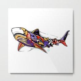 Street shark Metal Print
