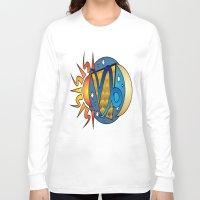 astrology Long Sleeve T-shirts featuring Astrology, Capricorn by Karl-Heinz Lüpke