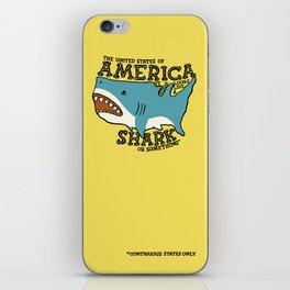 America…   it kinda looks like a shark or something iPhone Skin