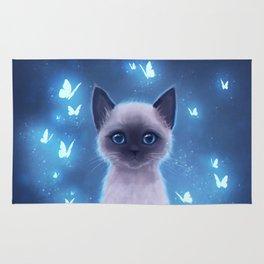 Siamese kitten Rug