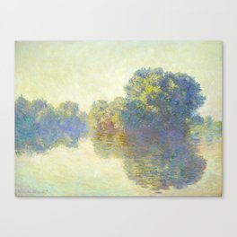 The Seine at Giverny Claude Monet 1897 Impressionist Oil Painting Nature Trees Lake Landscape Canvas Print
