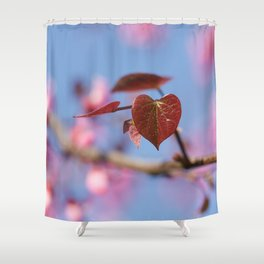 Redbud first leaves Shower Curtain