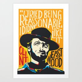 Clint Eastwood Pop Art Portrait Art Print