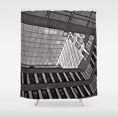 Modern Hamburg office building Shower Curtain