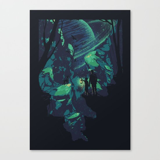 Cosmic Canyon Canvas Print