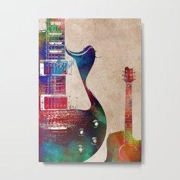 Guitar art 8 #guitar #music Metal Print